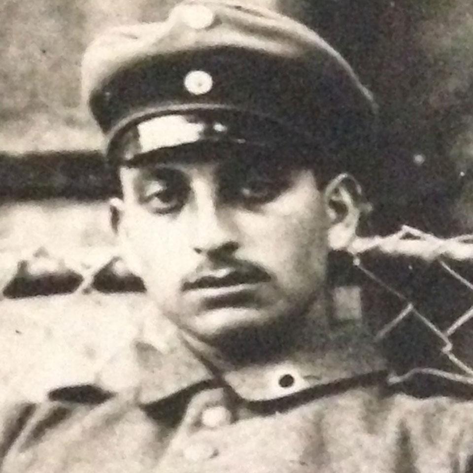 Leo Roos (1896–1917) als Soldat