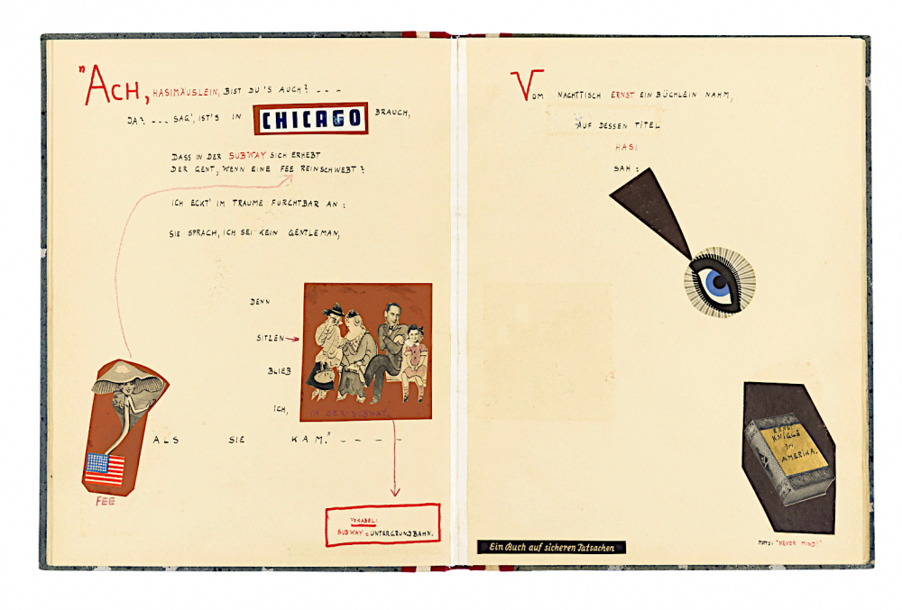 Handgeschriebene Reime mit Illustrationen und Collagen