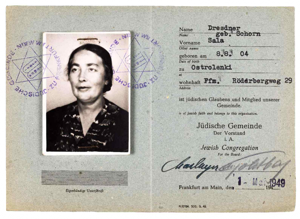 Mitgliedsausweis einer Frau, geboren in Ostrolenki