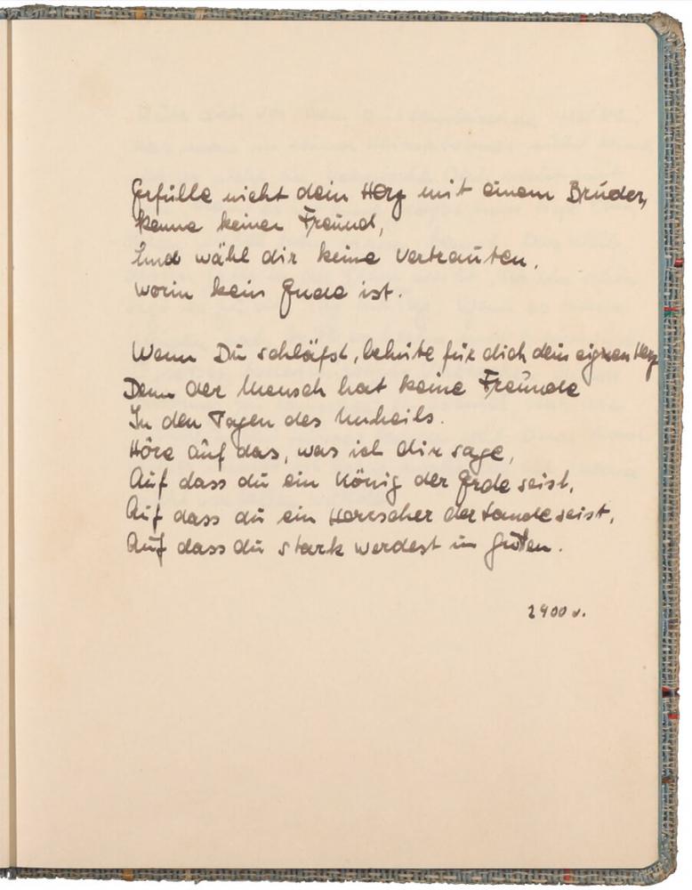 handschriftlicher Text, mit Tinte geschrieben