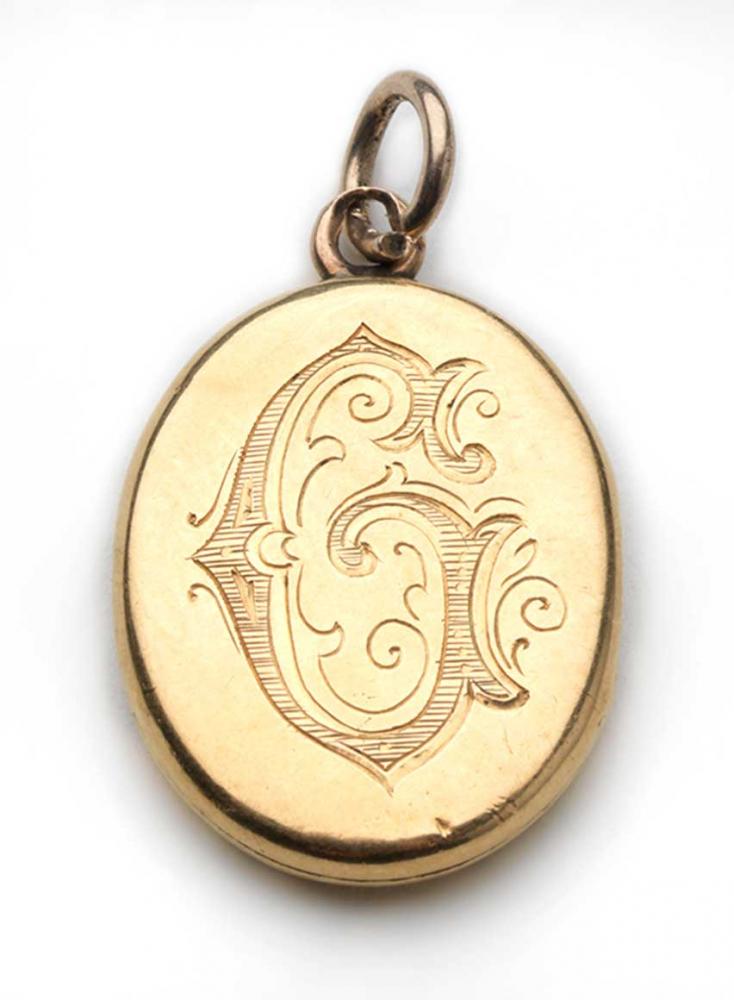 Goldenes Medaillon