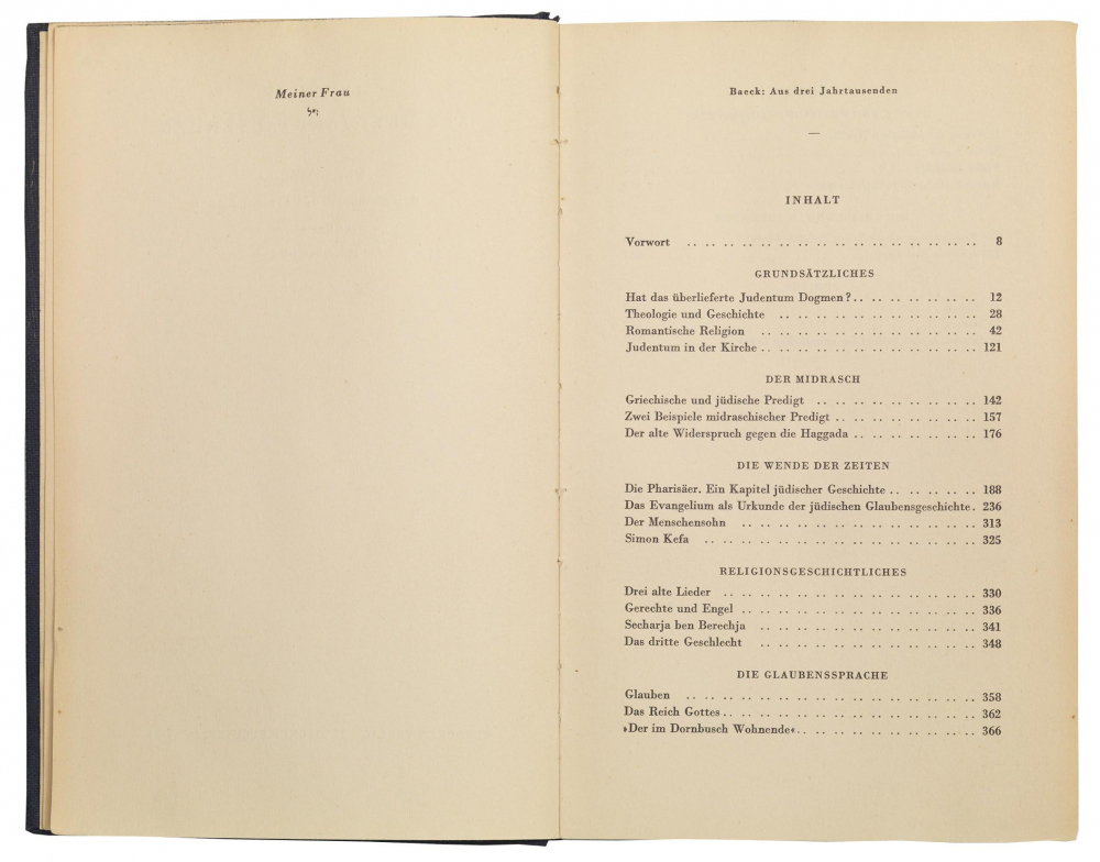 Aufgeschlagenes Buch mit Inhaltsverzeichnis