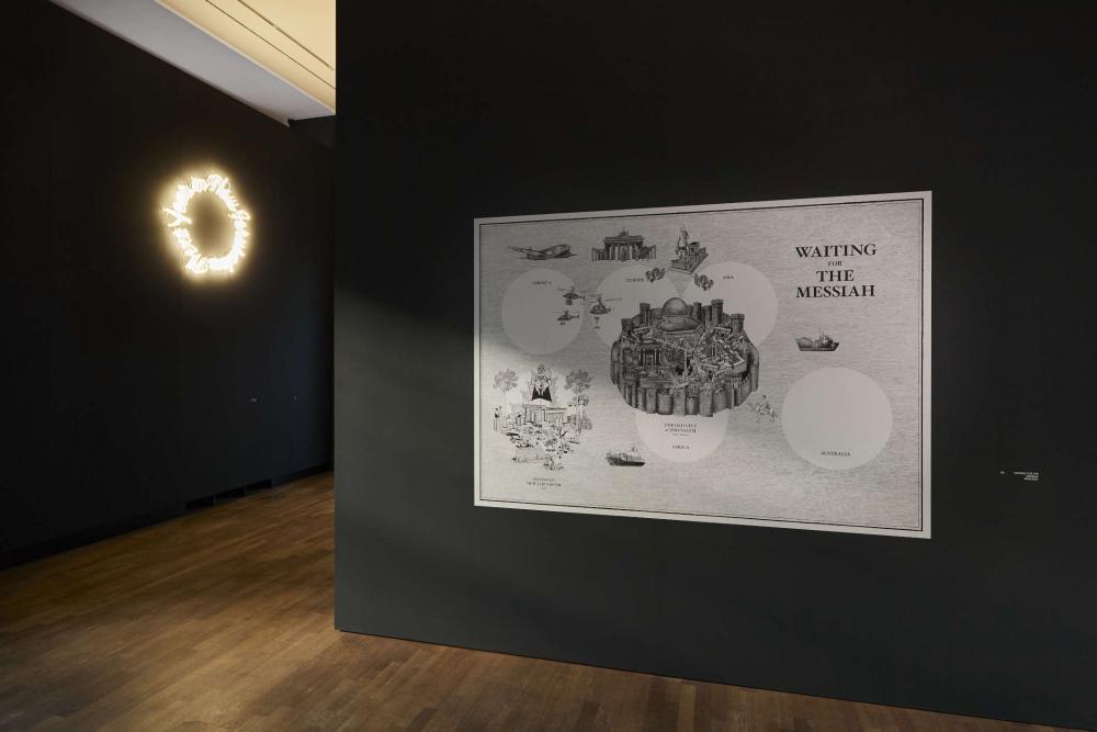 Raumansicht an der Wand ein illustriertes Poster