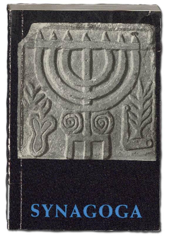 Die erste Seite, auch genannt Schmutztitel, des Werkes Synagoga, Katalog der Ausstellung in Recklinghausen
