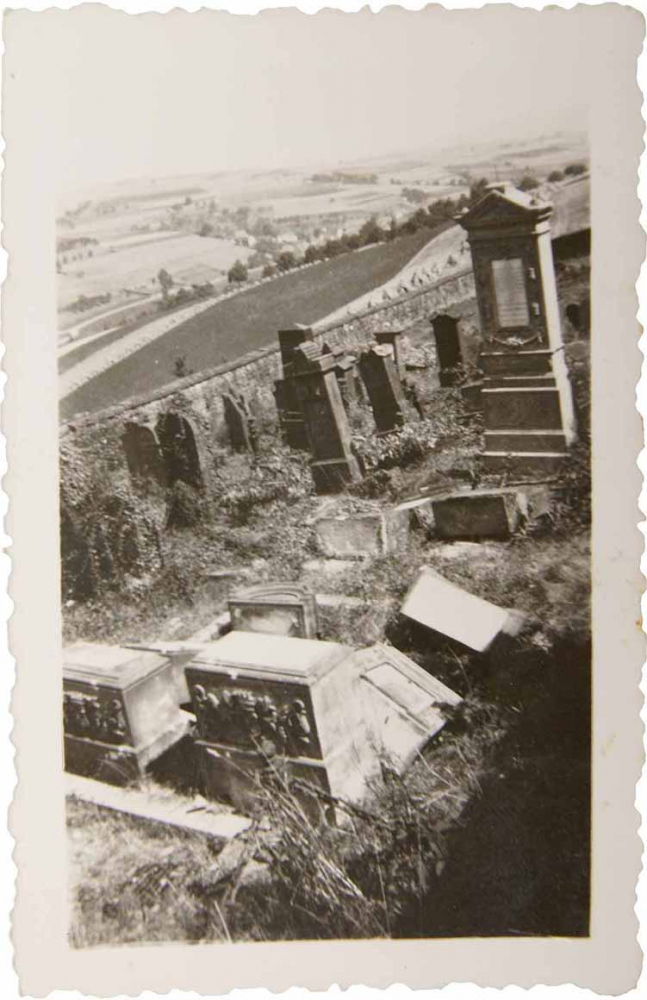 A Jewish cemetery with destroyed graves