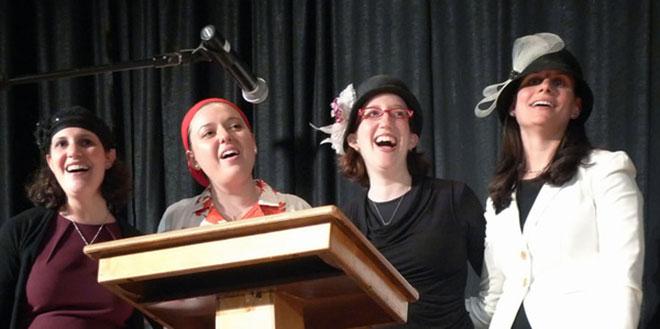 Ordination an der Yeshivat Maharat in New York (von links nach rechts): Rabbinerin Sara Hurwitz (Vorsitzende der Yeshivat Maharat), Maharat Ruth Balinsky Friedman, Maharat Rachel Kohl Finegold und Maharat Abby Brown Scheier