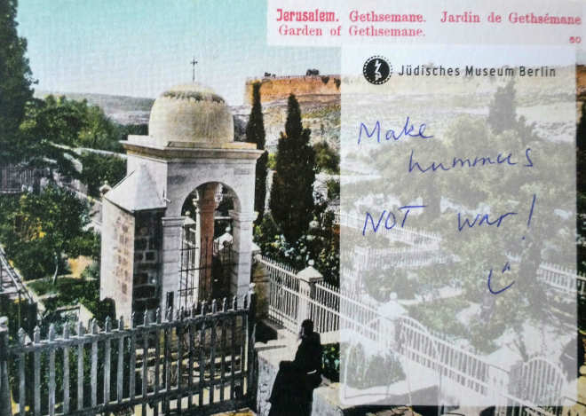 Postcard on which is written