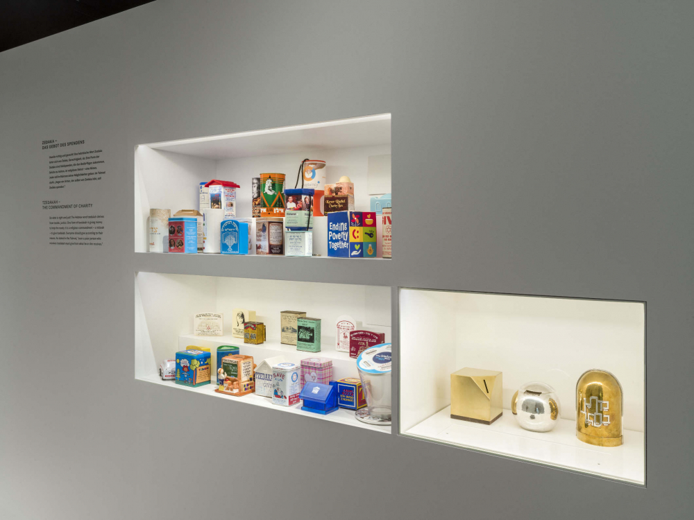 Shelf where packaged food is placed