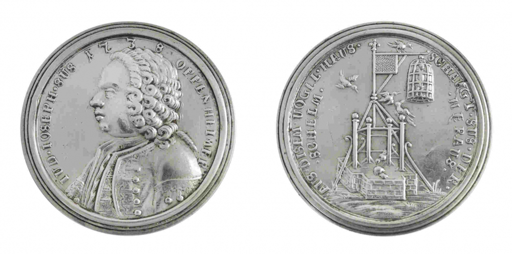 Two sides of a silver medal