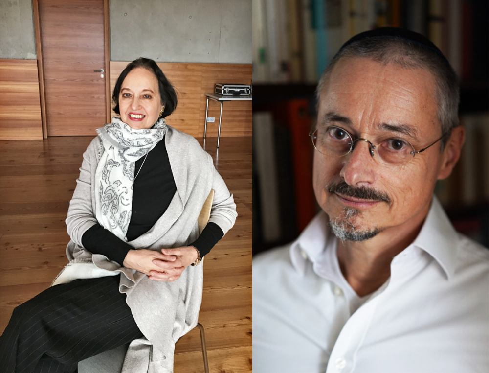 Portrait photos of the two lecturers Dr. Renate Syed and Dr. Asher J. Mattern
