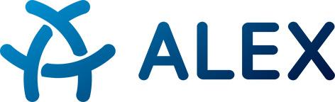 Logo mit Schriftzug ALEX
