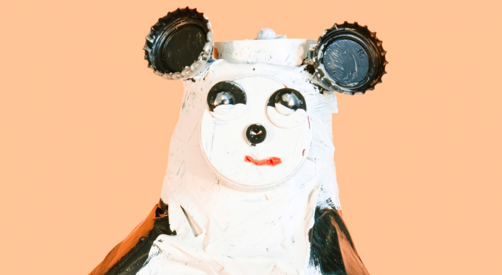 Figure Panda, made of different materials
