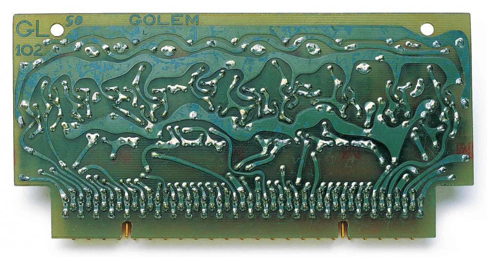 Grüne Computerplatine