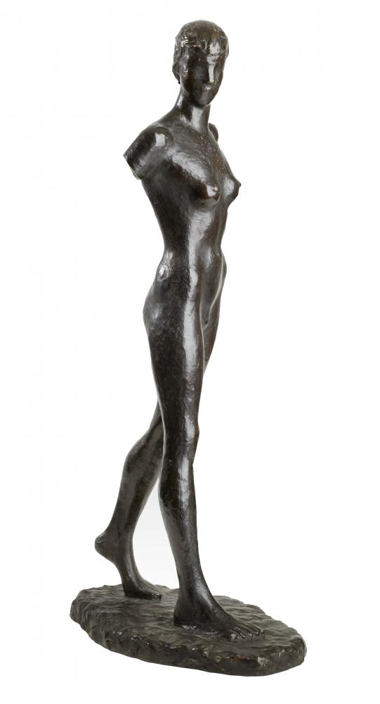 Sculpture: Girl Walking by Elisabeth Wolff