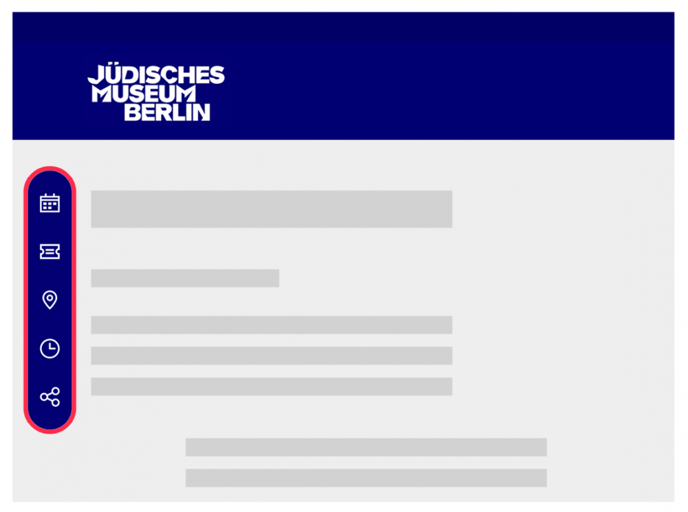 Graphic of the start page with a red border around the page navigation