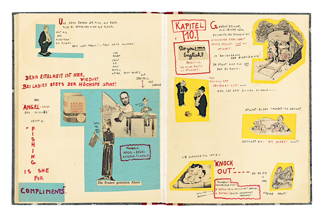 Handwritten rhymes with illustrations and collages