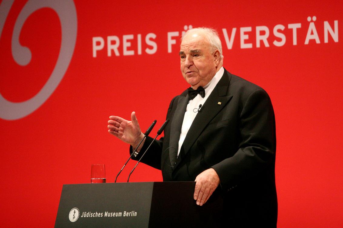 Jubiläumsdinner 2007: Rede Preisträger Helmut Kohl