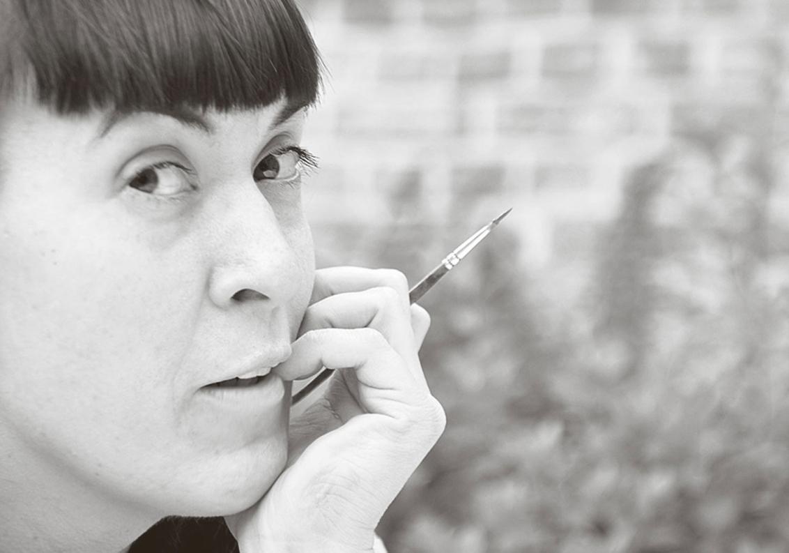Portrait der Bildhauerin Janina Schütz