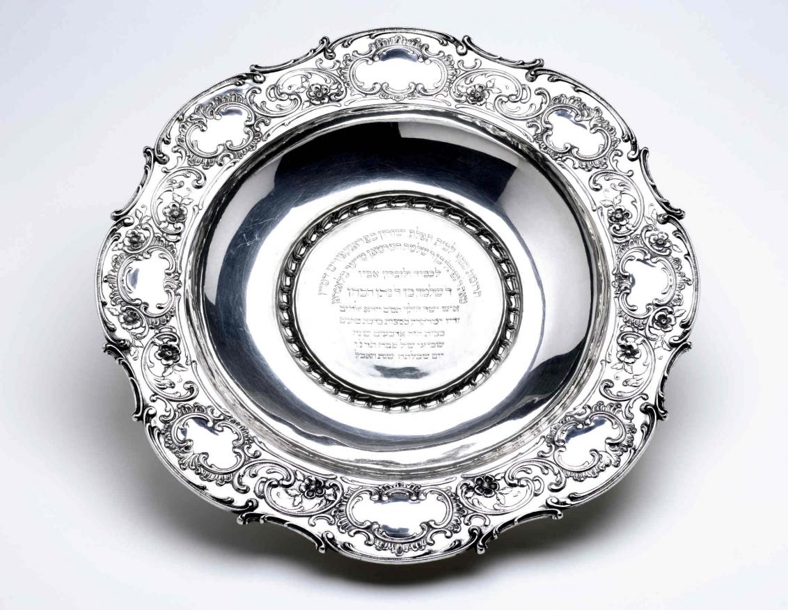 Silver Hand-washing basin