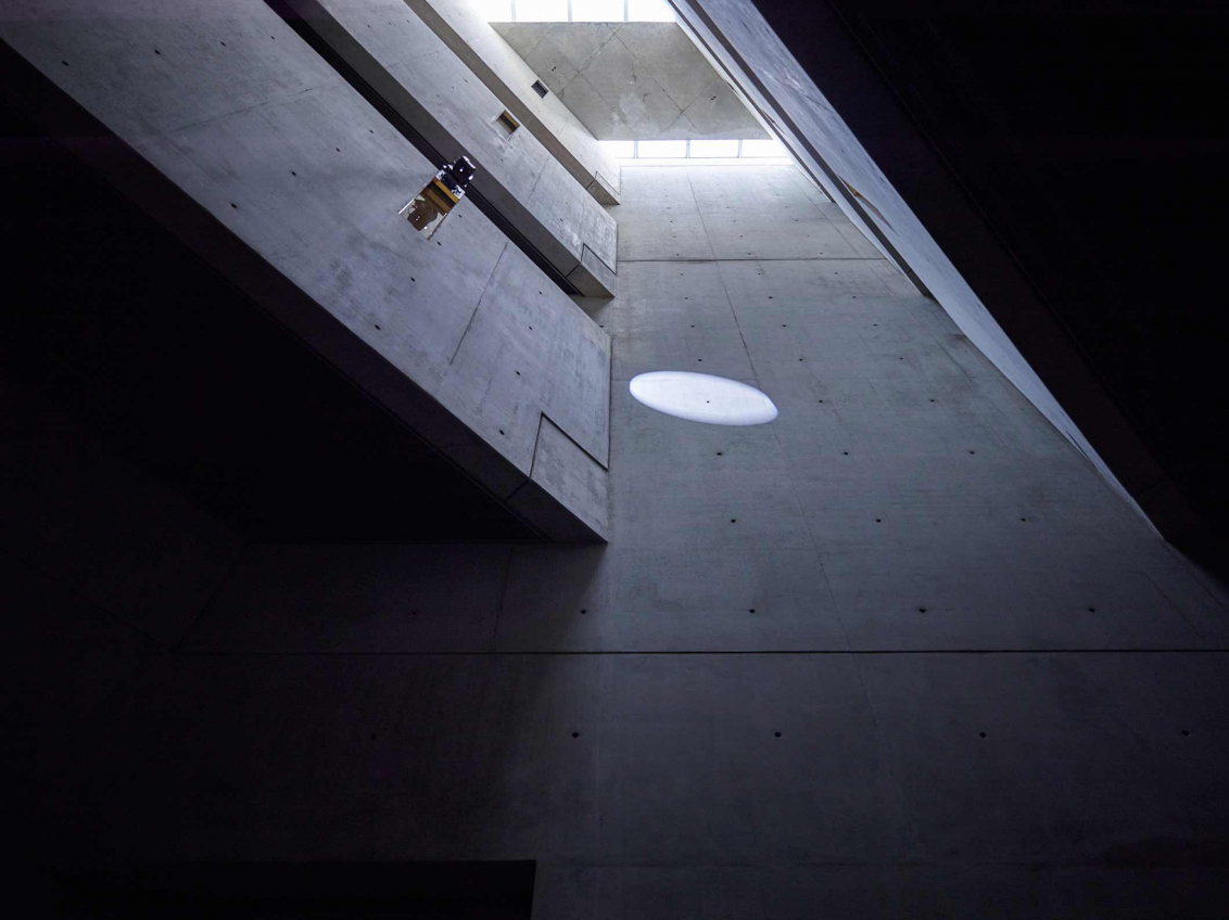Libeskind building with installation