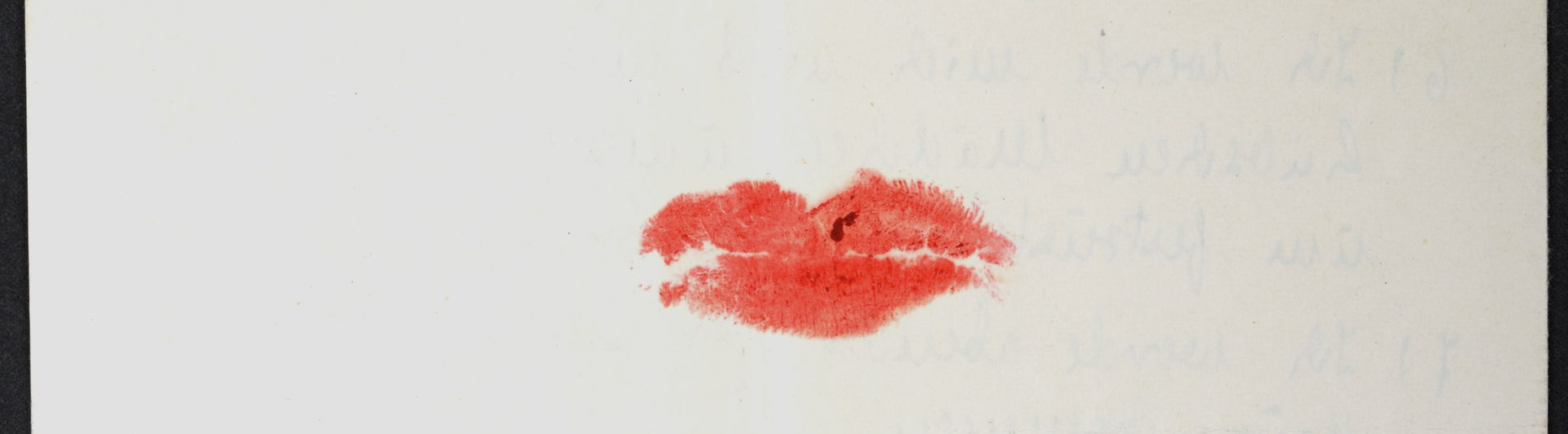 Imprint of a Kiss with red lipstick