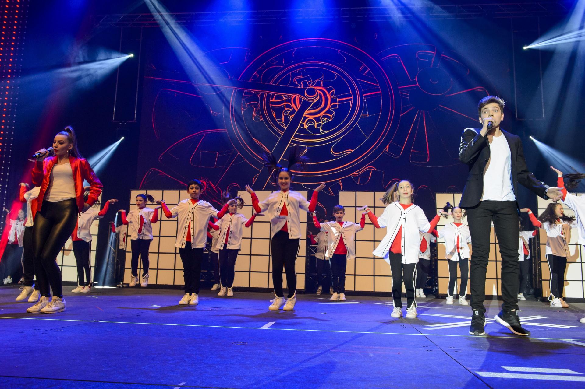 Die Gruppe Amichai beim Jewrovision Song Contest in Frankfurt