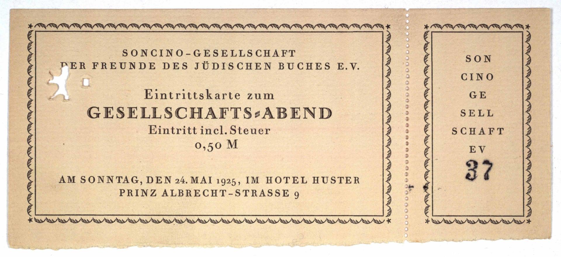 Eintrittskarte mit Abriss-Coupon