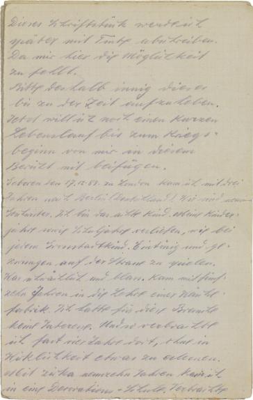 Diary: handwritten