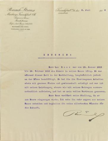 Gedruckter Briefkopf, maschinenschriftlich