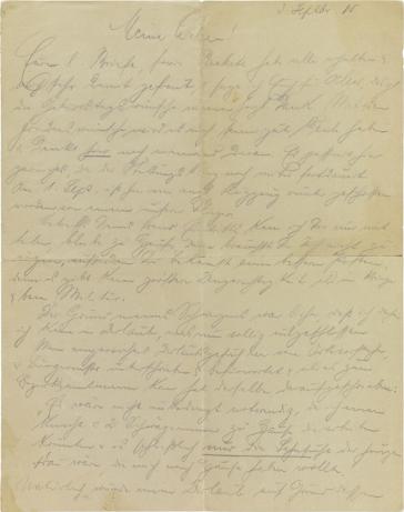 Brief: handschriftlich