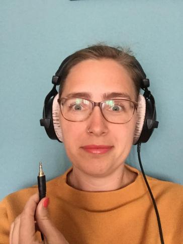 Selfie von Lisa Albrecht mit Kopfhörern