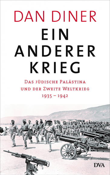 Book cover of Ein anderer Krieg, showing soldiers and cannons in a desert landscape