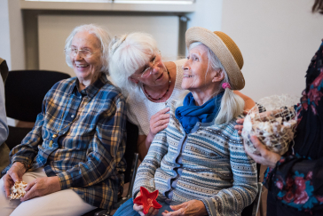 Older, laughing participants