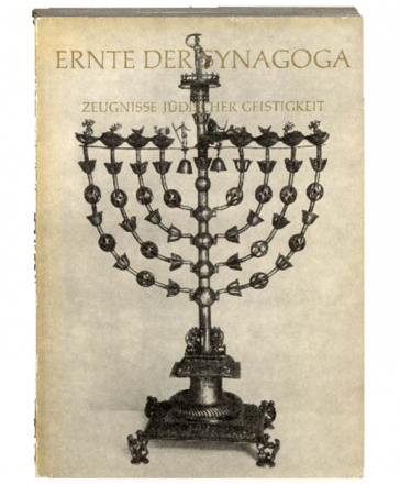 Book cover Harvest of the Synagoga with image of a menorah