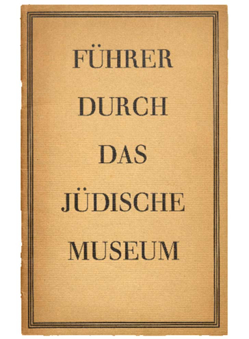 Book cover with the inscription Führer durch das Jüdische Museum