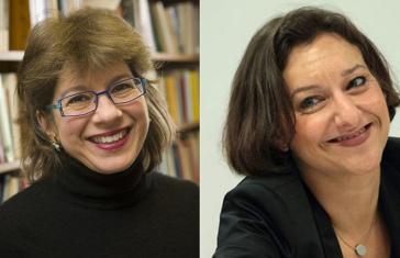Porträtfotos Susannah Heschel und Katajun Amirpur