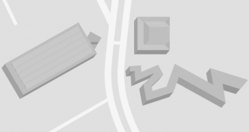 Übersichtsplan mit allen Gebäuden, die zum Jüdischen Museum Berlin gehören