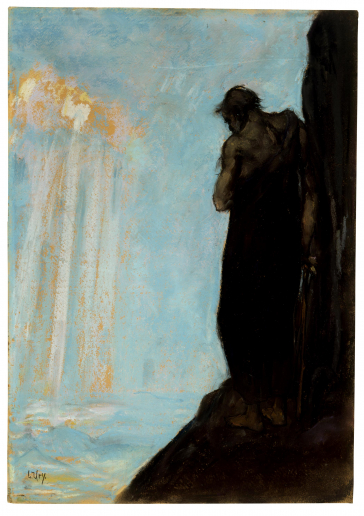 Painting: Lesser Ury, Moses Looks upon the Promised Land