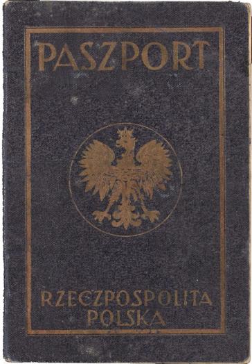 Vorderseite des Passes mit der Aufschrift