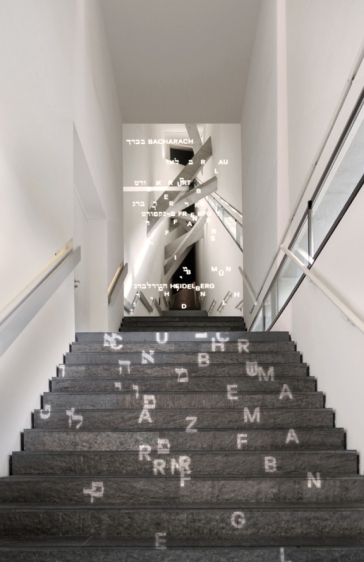 Stairs with light projection