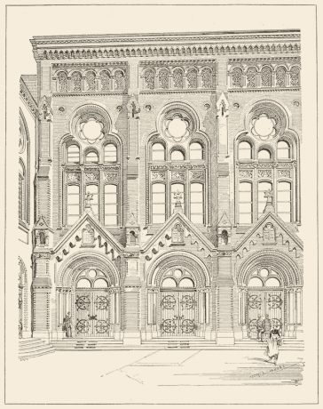 Drawing of the Synagogue at Lindenstraße