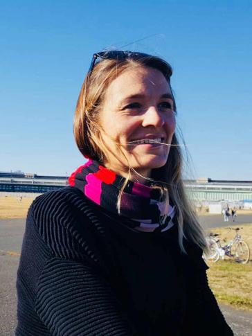 Porträt von Katharina Wulffius auf dem Tempelhofes Feld