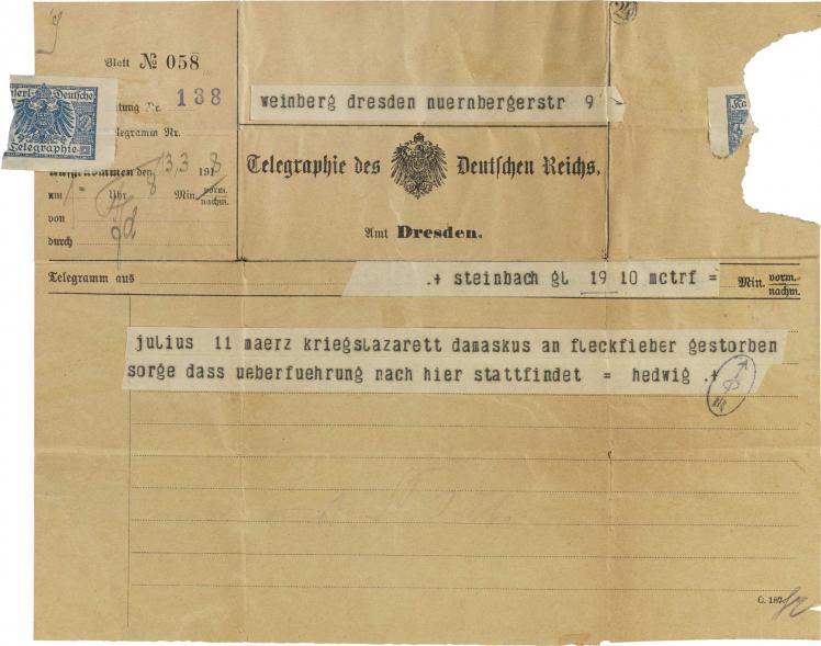 Pre-printed, handwritten and typewritten text