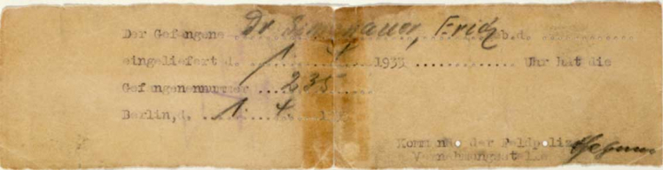 Extremely long yellowed note with faded text. Some words are handwritten, others typed