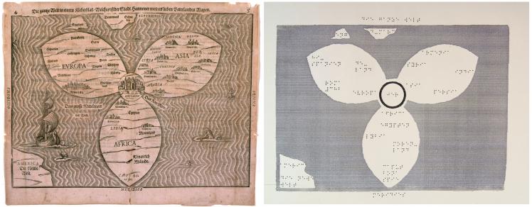 Die historische Karte von Heinrich Bünting und das darauf basierende Tastmodell