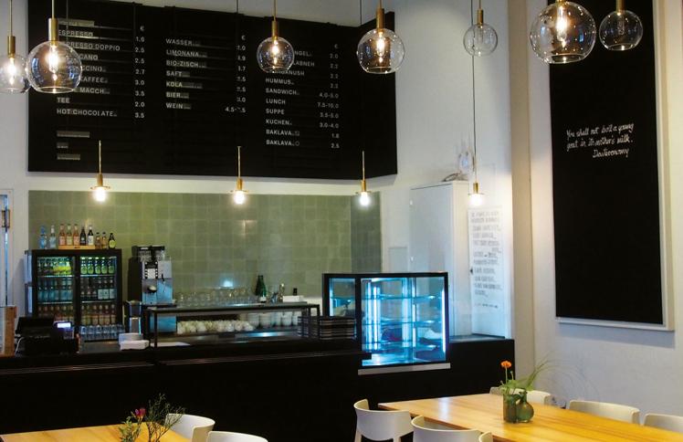 Blick ins Museumscafé mit Thresen