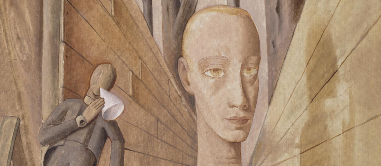 Detail of painting: Felix Nussbaum, Loneliness