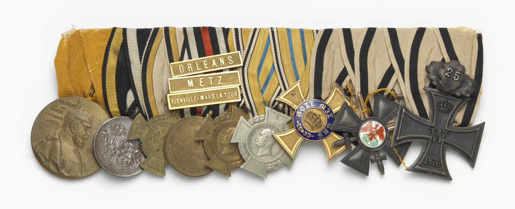 Military medals with ribbons