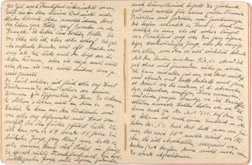 Two-page spread with handwritten notes