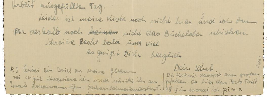 Close-up of a handwritten letter